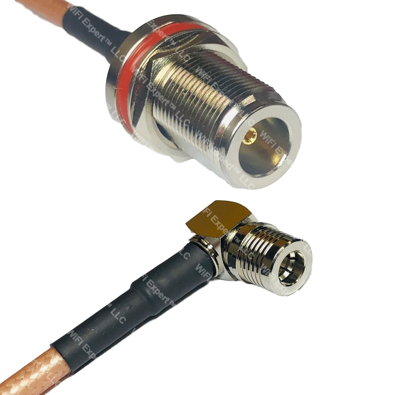 RG400 Silver BNC MALE ANGLE to SMA MALE Coax RF Cable USA Lot