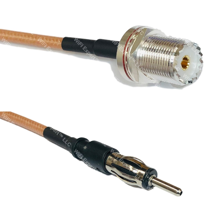RG400 Silver Mini UHF Male to PL259 UHF Male Coax RF Cable USA Lot