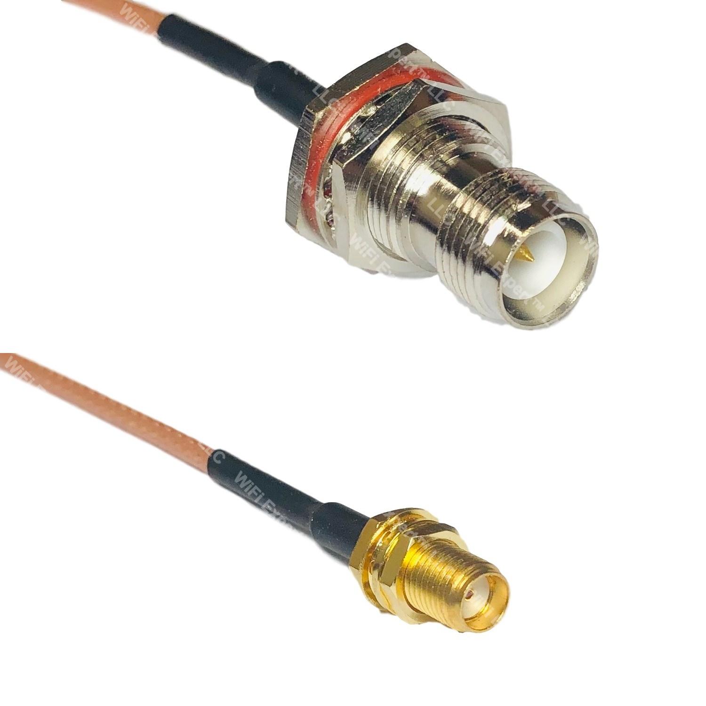 RG316 SMA MALE ANGLE to RP-TNC FEMALE BULKHEAD Coaxial RF Cable USA-US