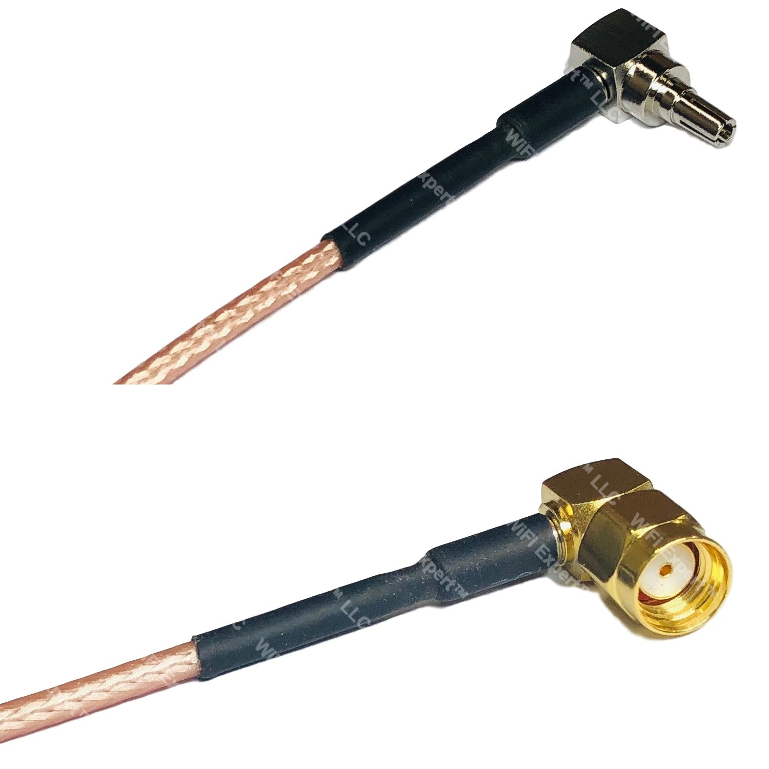 RG316 N MALE ANGLE to RP-SMA Female Long Coaxial RF Cable USA-US
