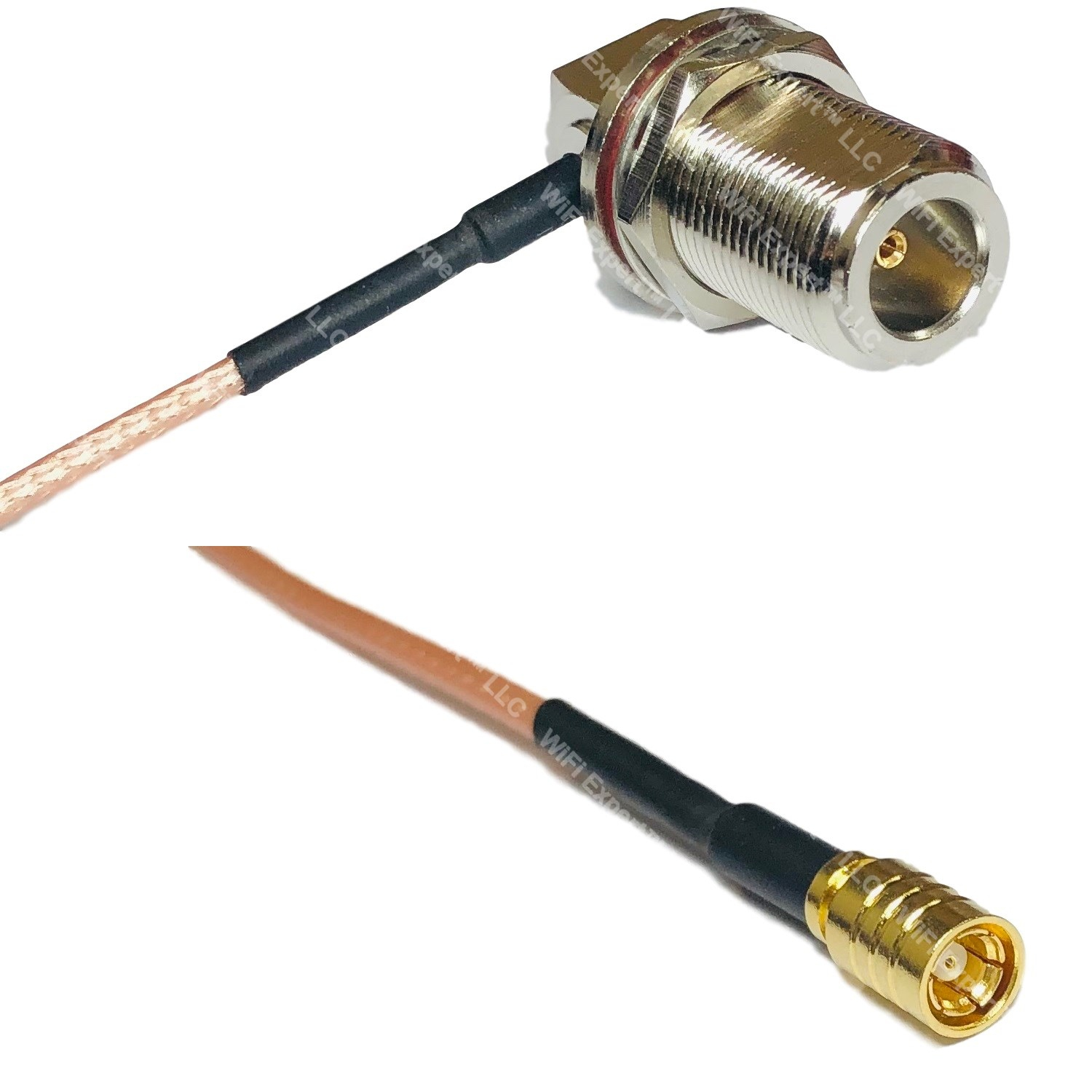 USA-CA RFC195 RCA MALE to BNC FEMALE BIG BULKHEAD Coaxial RF Pigtail Cable
