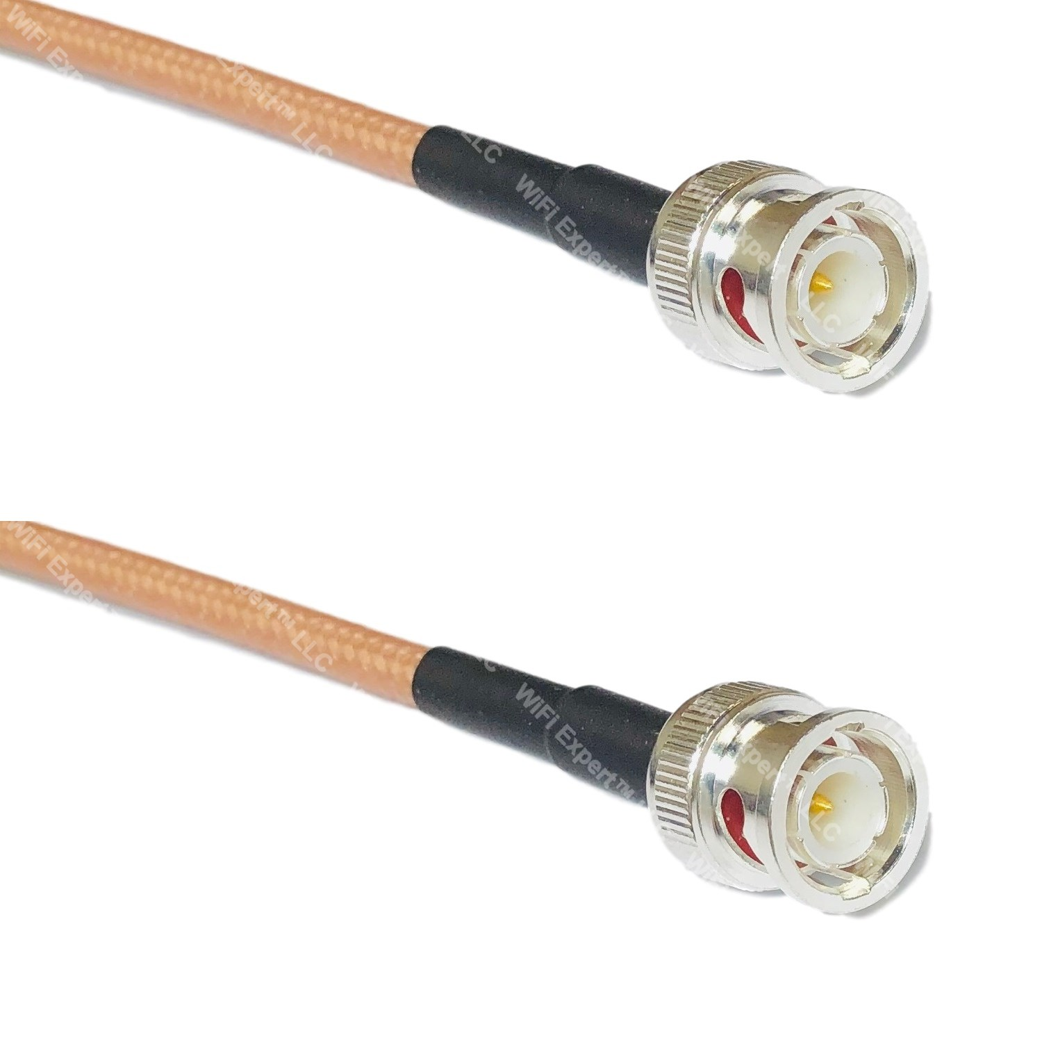 RG142 Silver PL259 UHF Male to BNC MALE ANGLE Coax RF Cable USA Lot