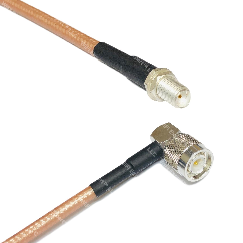 RG400 Silver UHF Male Angle to PL259 UHF Male Coax RF Cable USA Lot