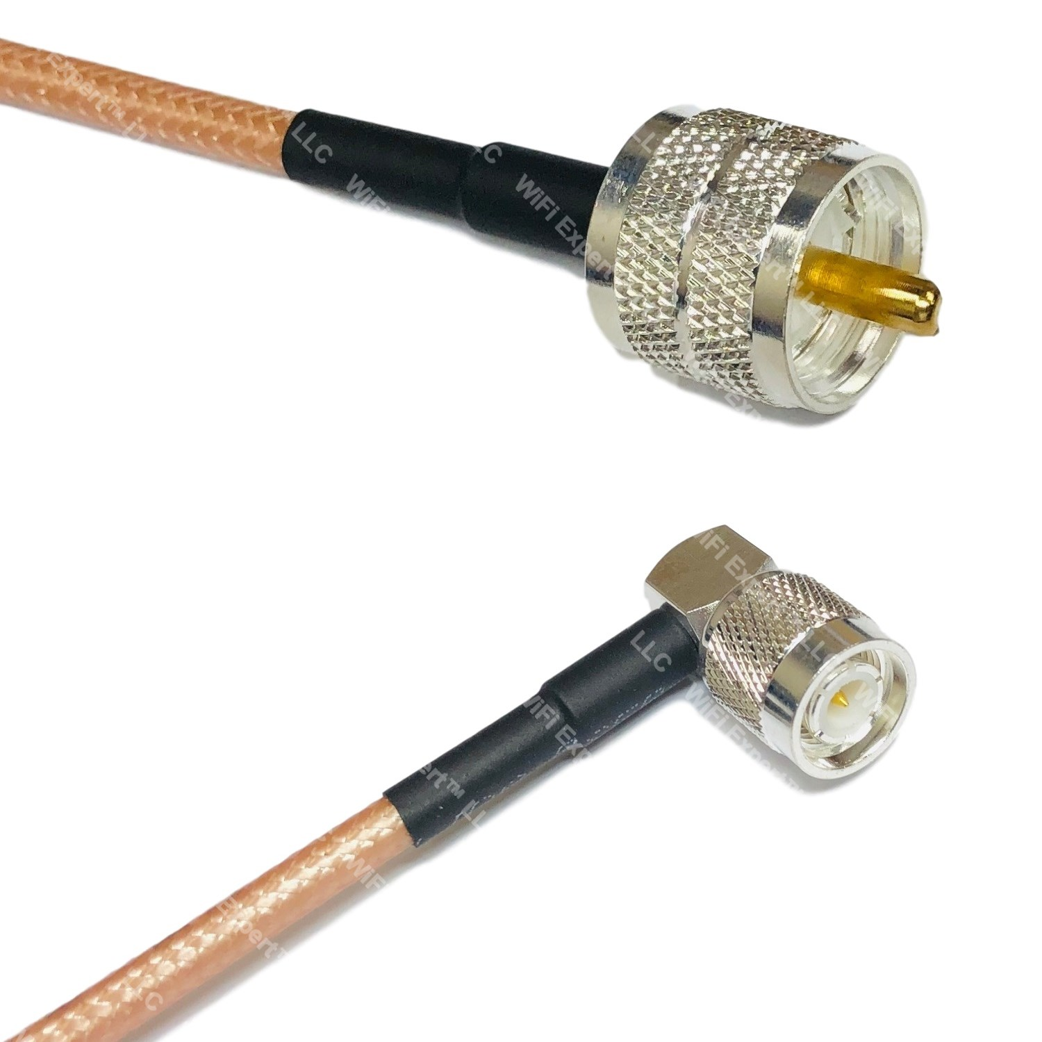 RFC195 Silver N MALE to TNC MALE Coax RF Cable USA Lot
