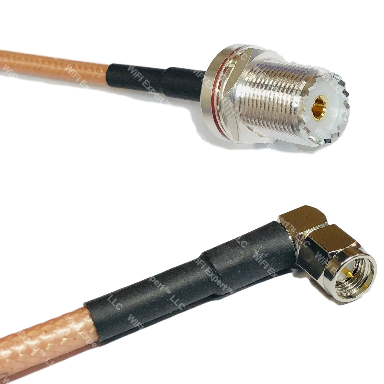 RG142 Silver SMA FEMALE to N MALE Coax RF Cable USA Lot