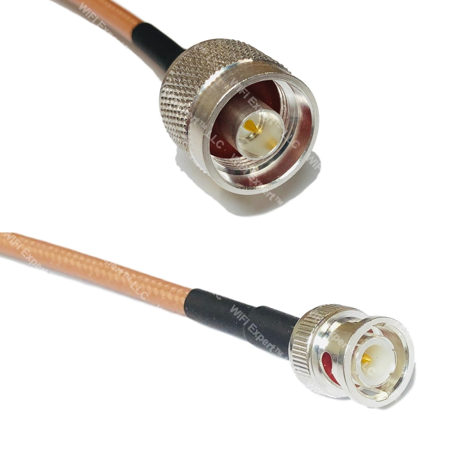 LMR200 Silver PL259 UHF Male to BNC MALE ANGLE Coax RF Cable USA Lot